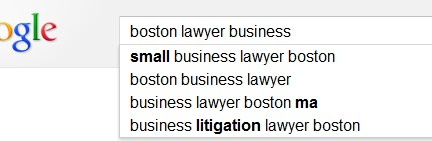 Boston Lawyer Business SEO Keyword Research